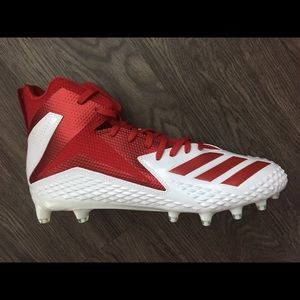 FREAK X CARBON MID CLEATS Men's Size 7 Red/White